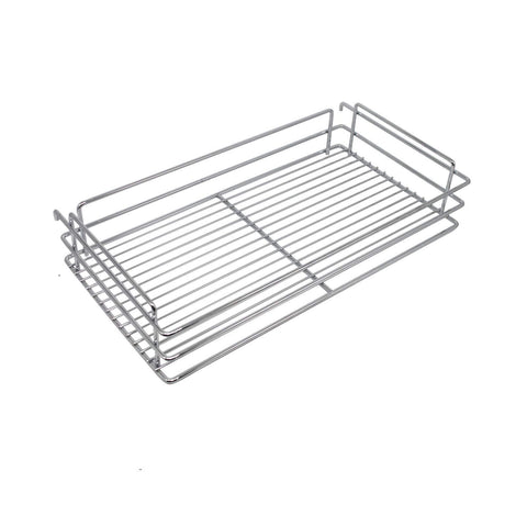 Heavy duty 10x18 5x25 9 inch cabinet pull out chrome wire basket organizer 3 tier cabinet spice rack shelves full pullout set
