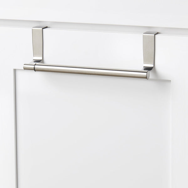 Buy now youcopia over the cabinet door expandable towel bar stainless steel