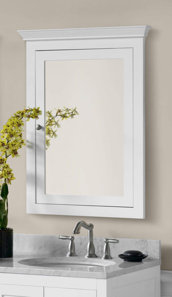 Best ronbow edward 27 x 34 transitional solid wood frame bathroom medicine cabinet with 2 mirrors and 2 cabinet shelves in white 617026 w01