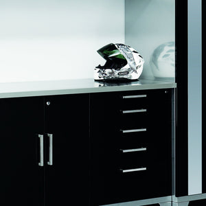 Budget newage products performance plus series stainless steel work top cabinet 84 by 1 25 by 24