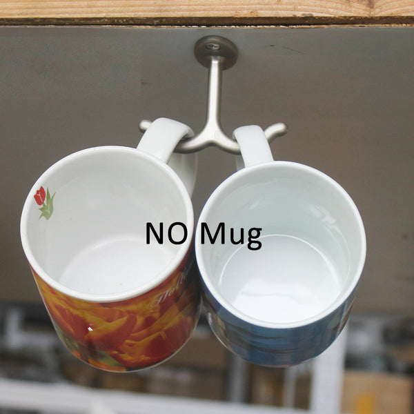 New yyst mug cup holder cabinet hanging organizer rack no mugs