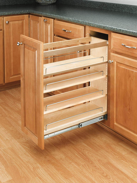 The best rev a shelf 448 bc 8c base cabinet pullout organizer with wood adjustable shelves sink base accessories 8 inch