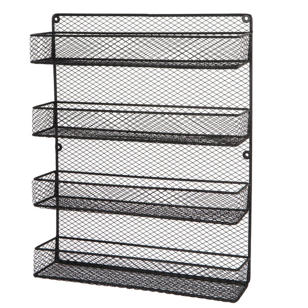 Amazon best bbbuy 4 tier spice rack organizer wall mounted country rustic chicken holder large cabinet or wall mounted wire pantry storage rack great for storing spices household stuffs