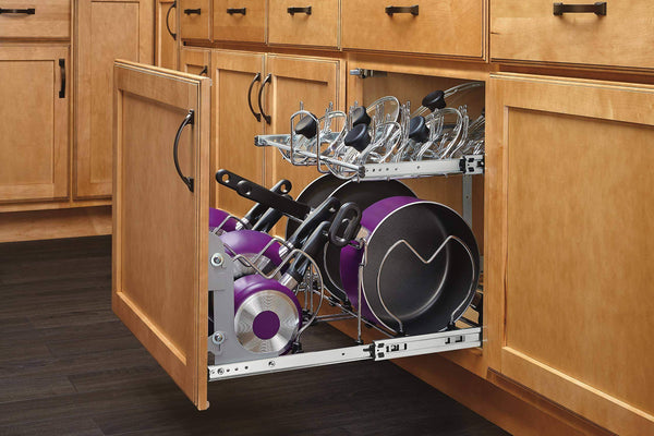 Budget friendly rev a shelf 5cw2 2122 cr 21 in pull out 2 tier base cabinet cookware organizer