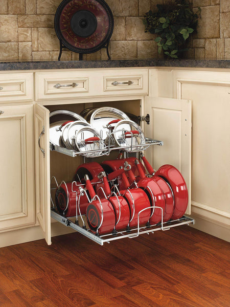 Budget rev a shelf 5cw2 2122 cr 21 in pull out 2 tier base cabinet cookware organizer
