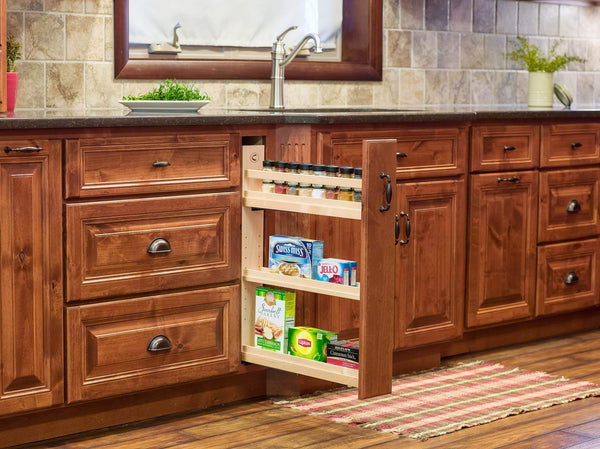On amazon century components cascade series casbo35pf base cabinet pull out kitchen organizer 3 7 8w x 26 3 4h x 21 1 2d baltic birch blum soft close slides