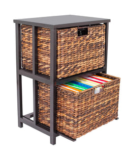 Discover the birdrock home abaca 2 tier file cubby cabinet vertical storage furniture 2 drawers office decor home decorative box filing natural wood delivered fully assembled hanging letter and legal