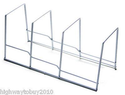 (12) ea Honey Can Do KCH-02165 White Kitchen Organizer Wire Plate Racks