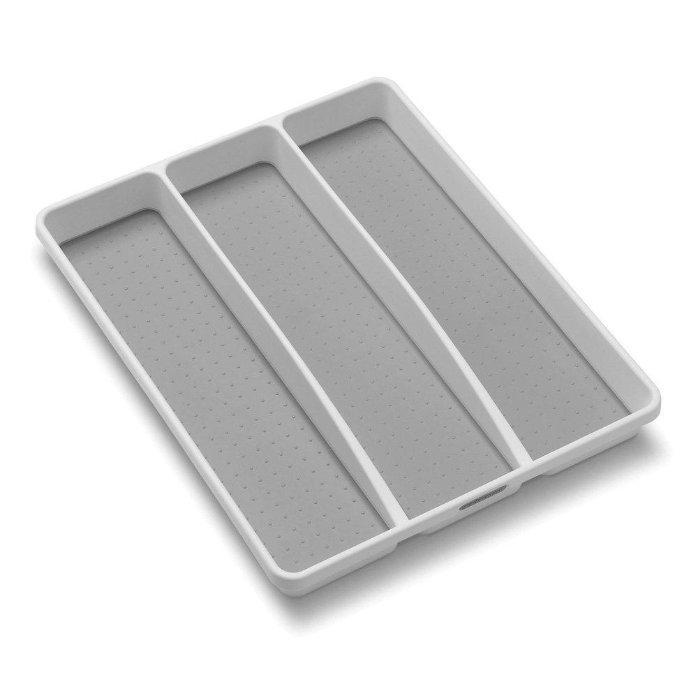 madesmart Classic Utensil Tray - Granite | CLASSIC COLLECTION | 3-Compartments | Kitchen Organizer | Non-slip Lining and Rubber Feet | Easy to Clean |