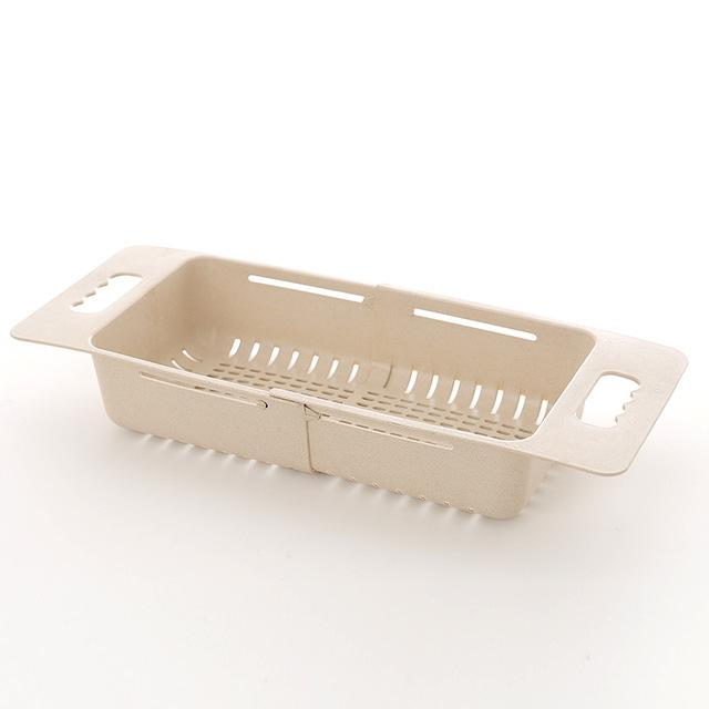 Adjustable Sink Dish Drying Rack Kitchen Organizer Plastic Sink Drain Basket Vegetable holder