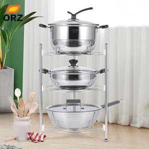 3 Tier Stainless Steel Pan Rack Pot Holder