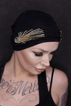 Carolina Black Laurel Crown by Masumi Headwear •  MIMO WIGS • Headwear Experts & Medical Hair Loss Experts.