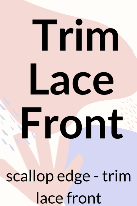 Lace Front Trim - CUSTOMISATION to purchase •  MIMO WIGS • Services Experts & Medical Hair Loss Experts.