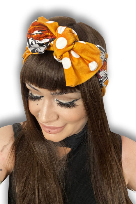 Tiger Print Self Tie Head Wrap by Eadiechops •  MIMO WIGS • Headwear Experts & Medical Hair Loss Experts.