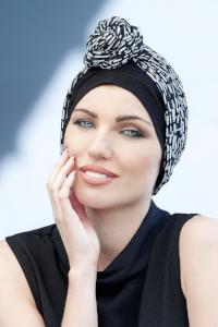 Daisy by Masumi Headwear - Black and White Crystal