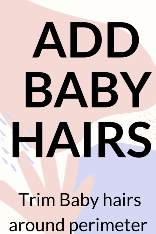 Wig service: Add Baby Hairs •  MIMO WIGS • Services Experts & Medical Hair Loss Experts.
