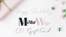 Birthday Gift Card •  MIMO WIGS • Gift Card Experts & Medical Hair Loss Experts.