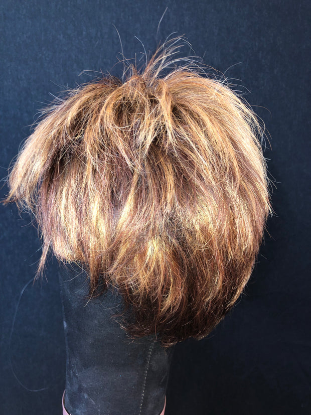 Hand tied warm brown Pixie (Preloved)