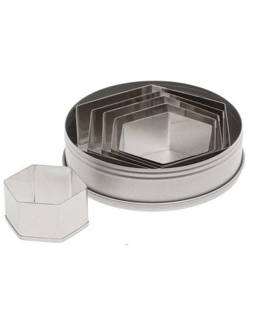 5251 Plain Hexagon 6pc