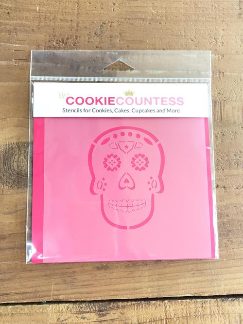Stencil Sugar Skull PYO 1pc