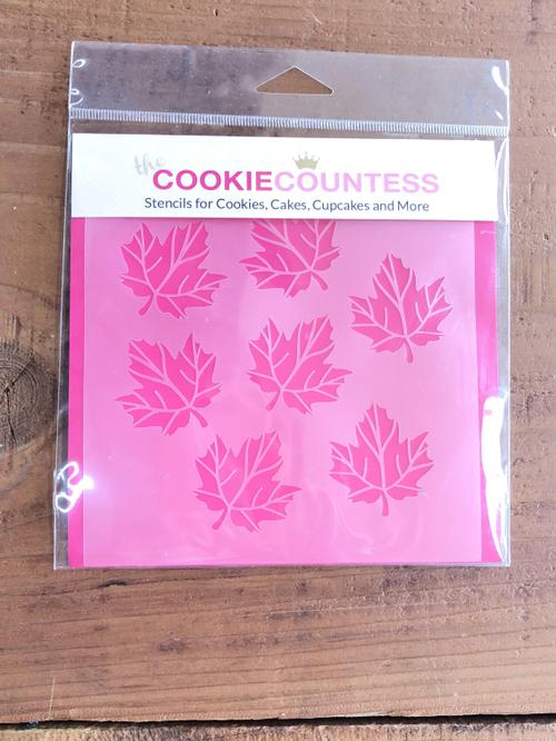 Stencil Maple Leaves 1pc