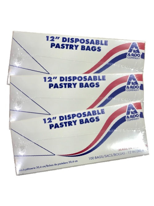 Aroo Pastry Bag 12Clr 100pc