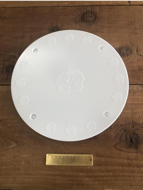 14in Wht Column Plate
