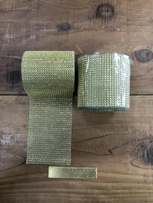 Diamond Mesh Gold roll
