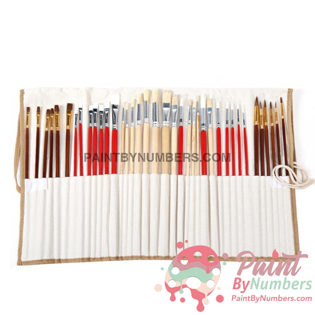 38 Paint Brush Pack W/wrap