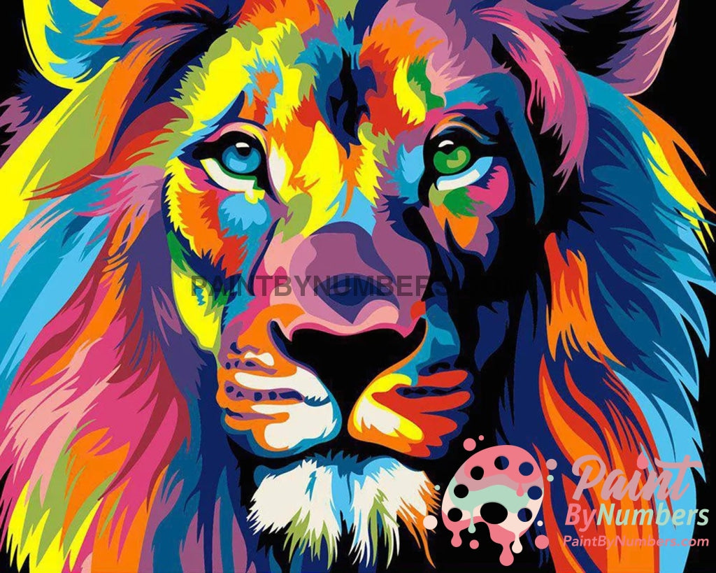 Colorful Lion Paint By Numbers Kit For Adults