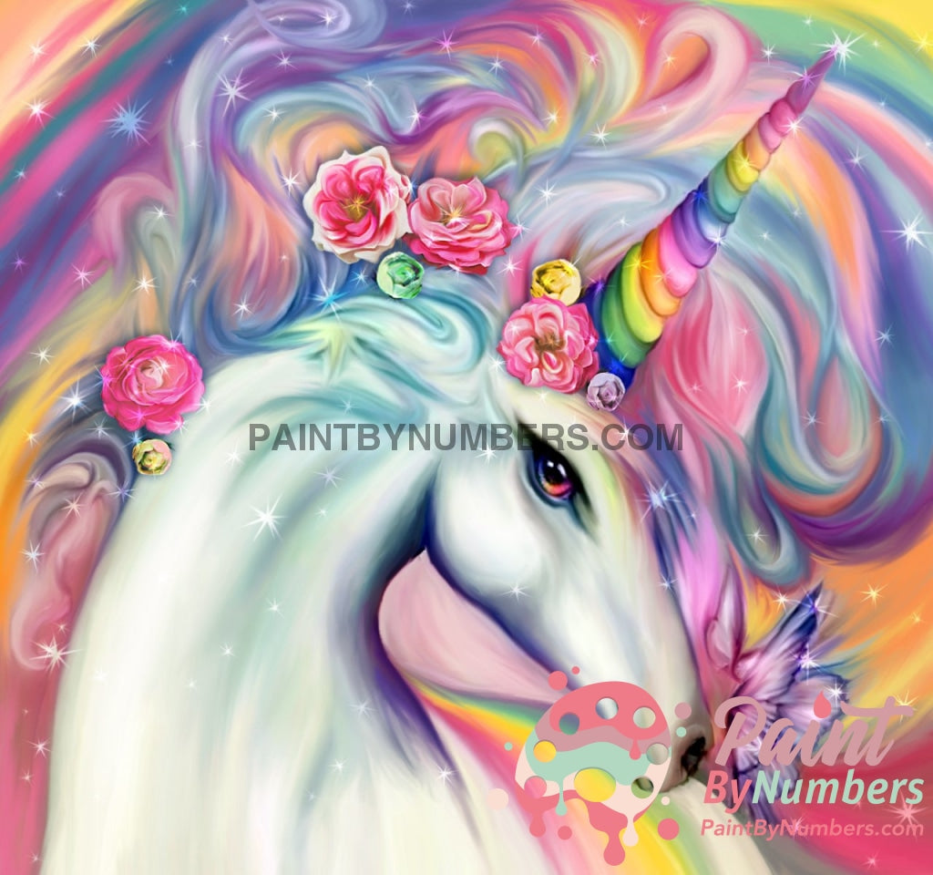Colorful Unicorn Paint By Numbers Kit