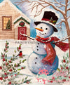 First Snowman Christmas Paint By Numbers Kit