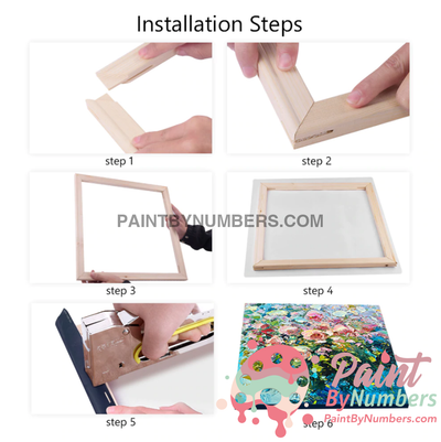 Free Diy Paint By Number Frames - Just Pay Shipping