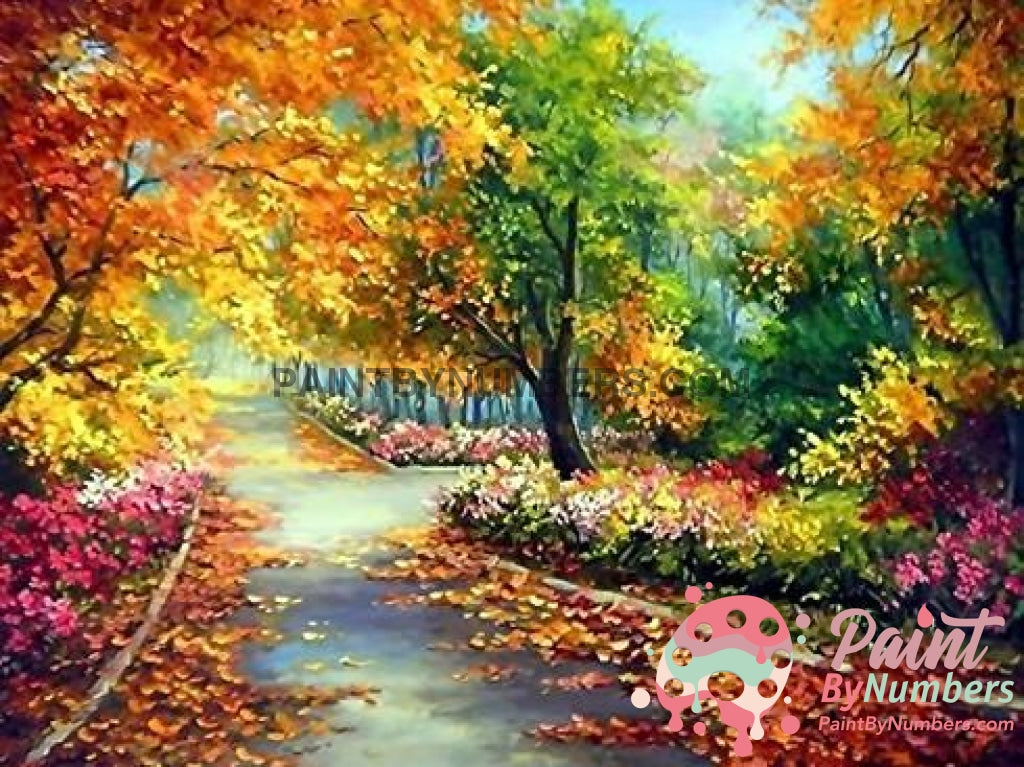 Free Paint By Numbers Kit Autumn Days / 30X40Cm No Frame