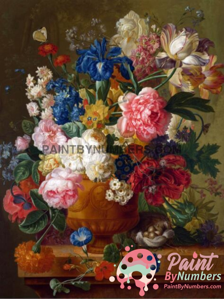 Free Paint By Numbers Kit Flowers In Vase / 30X40Cm No Frame