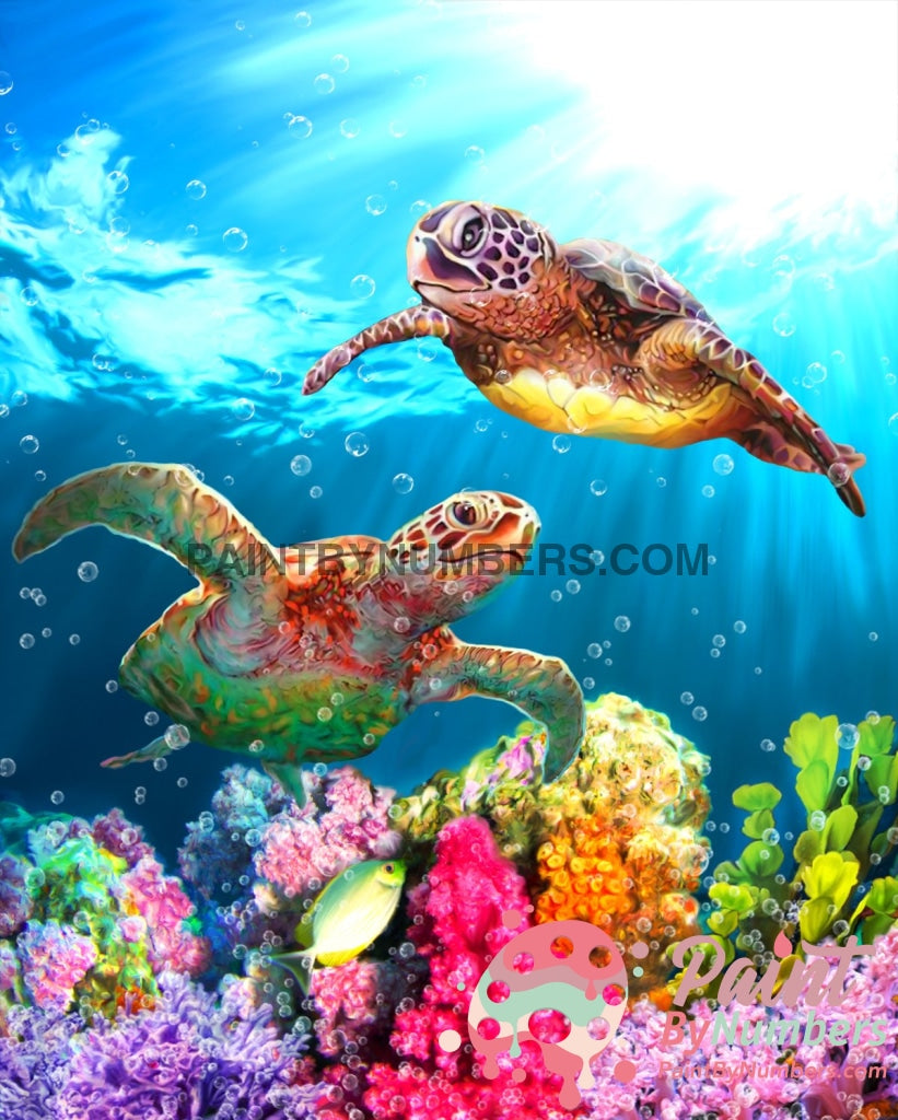 Sea Turtle Adventure Paint By Numbers Kit