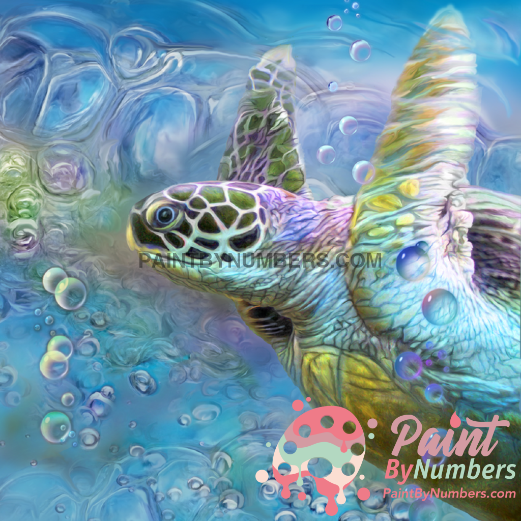 Sea Turtles Paint By Numbers Kit No Frame / 40X50Cm