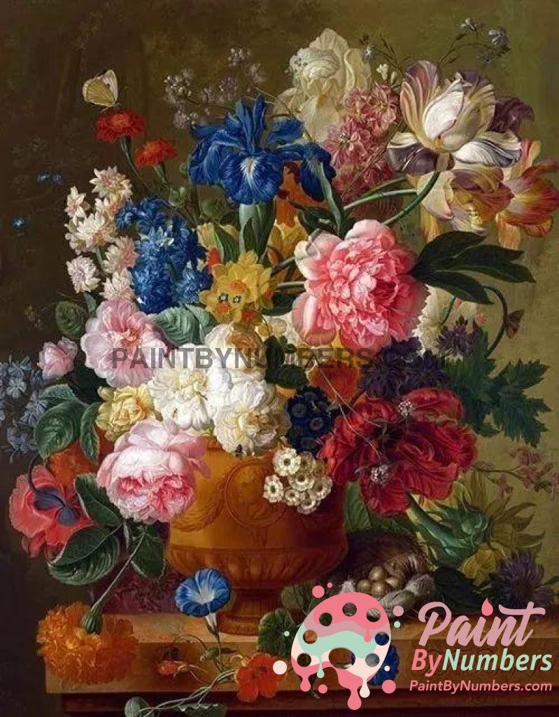 Ships From Usa - Flowers In Vase 40X50Cm