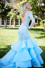 Load image into Gallery viewer, Sherri Hill 52044 Long Sheer Sleeve Lace Mermaid Dress