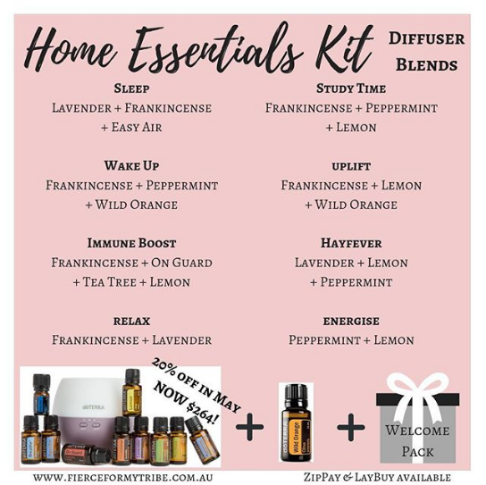 Home Essential Kit - Diffuser Blends