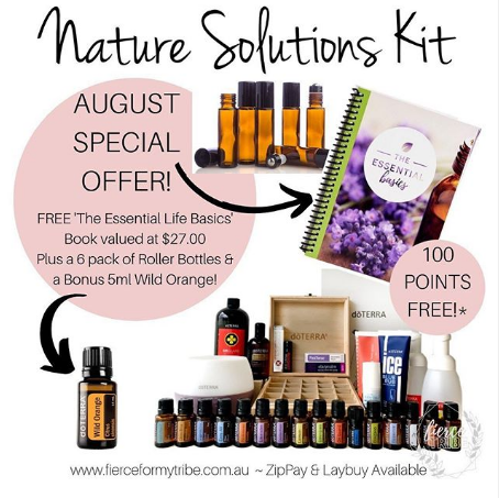 Doterra Nature Solutions Kit plus FREE Essential Life Book & Bonus 100 Points!