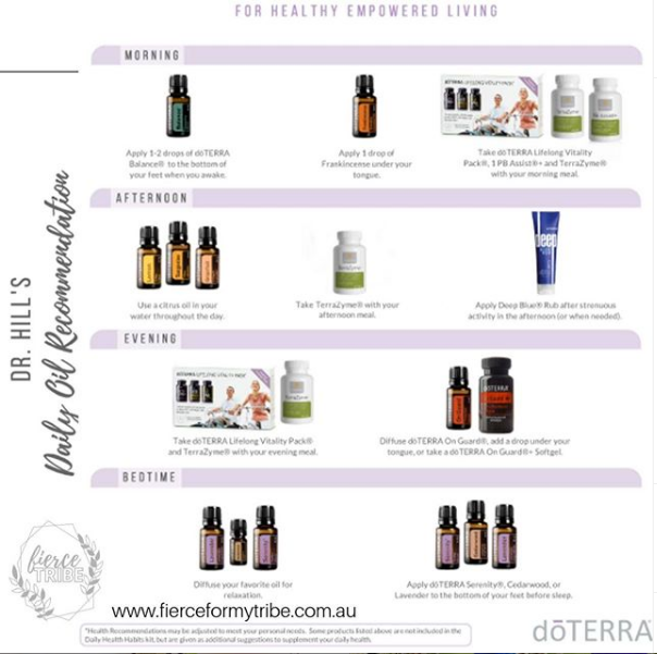 Doterra Daily Routine - Dr Hill's Daily Recommendations