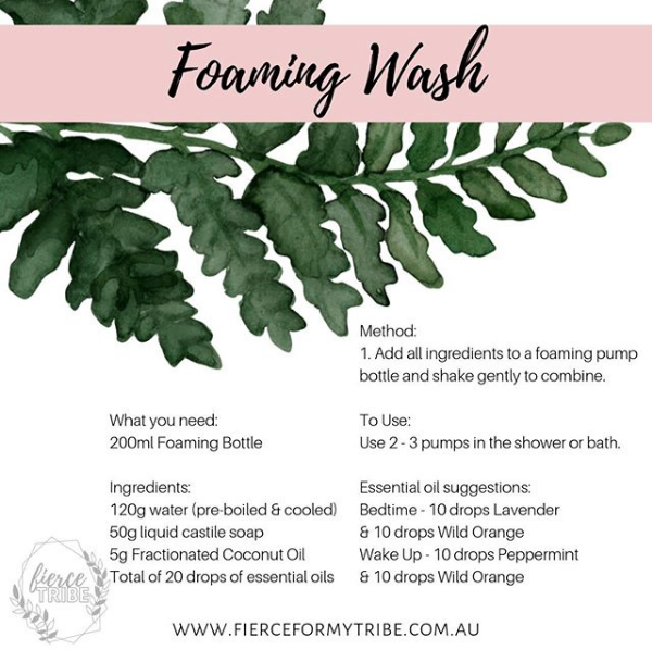 DIY Foaming Wash with Doterra Essential Oils