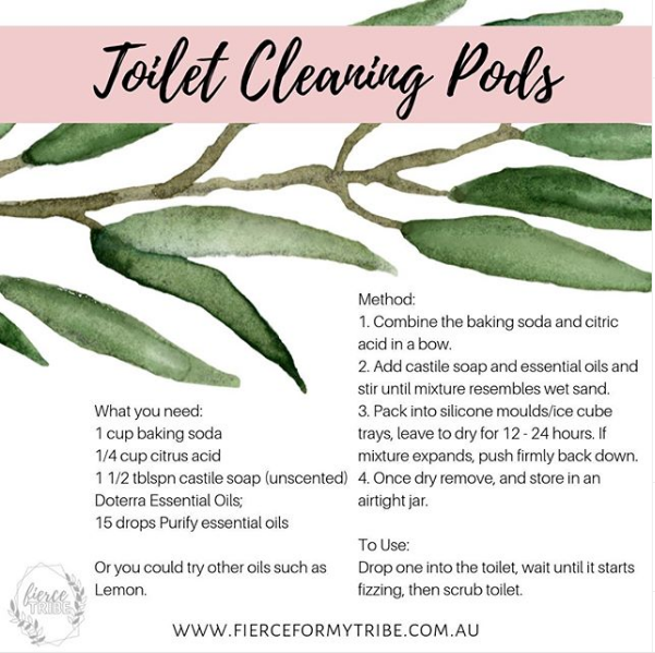 DIY Toilet Cleaning Pods with Doterra Essential Oils