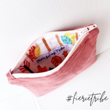 Linen Coin Purse - Blush