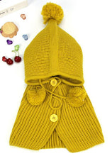 Load image into Gallery viewer, Baby Girls Children's Kids Hooded Poncho Hat Scarf & Snood 3-in-1