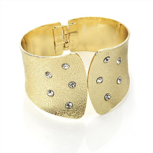 Gold Effect Crystal Bangle