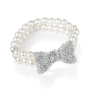 Pearl Bow Bangle