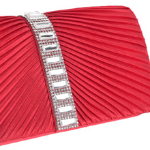 Load image into Gallery viewer, Red Satin Clutch