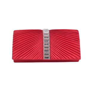 Red Satin Clutch